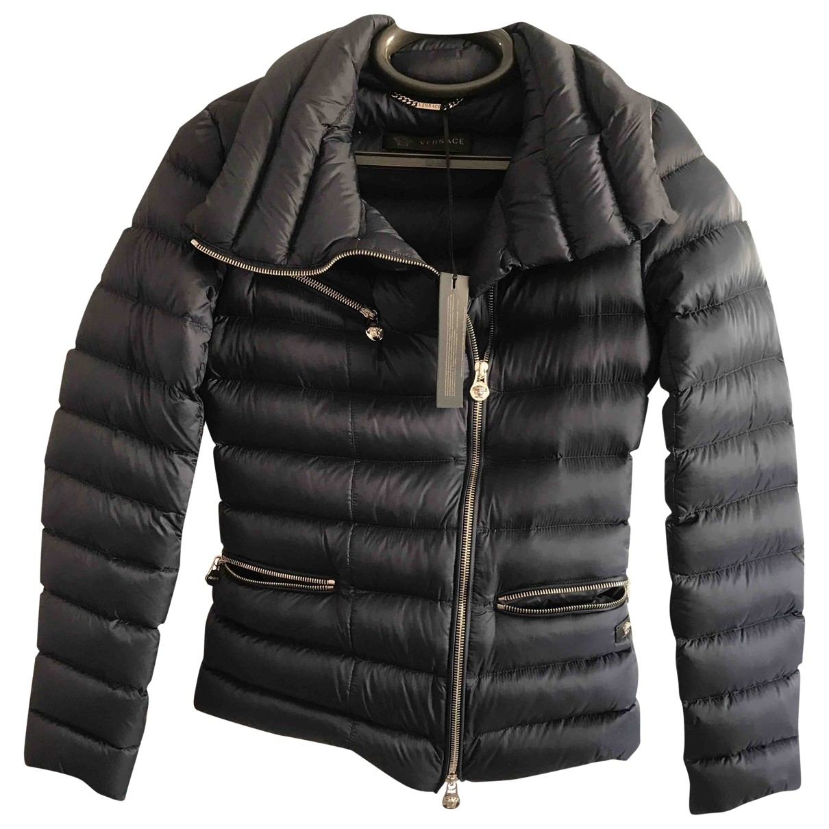 Versace \N Blue jacket for Women 40 IT