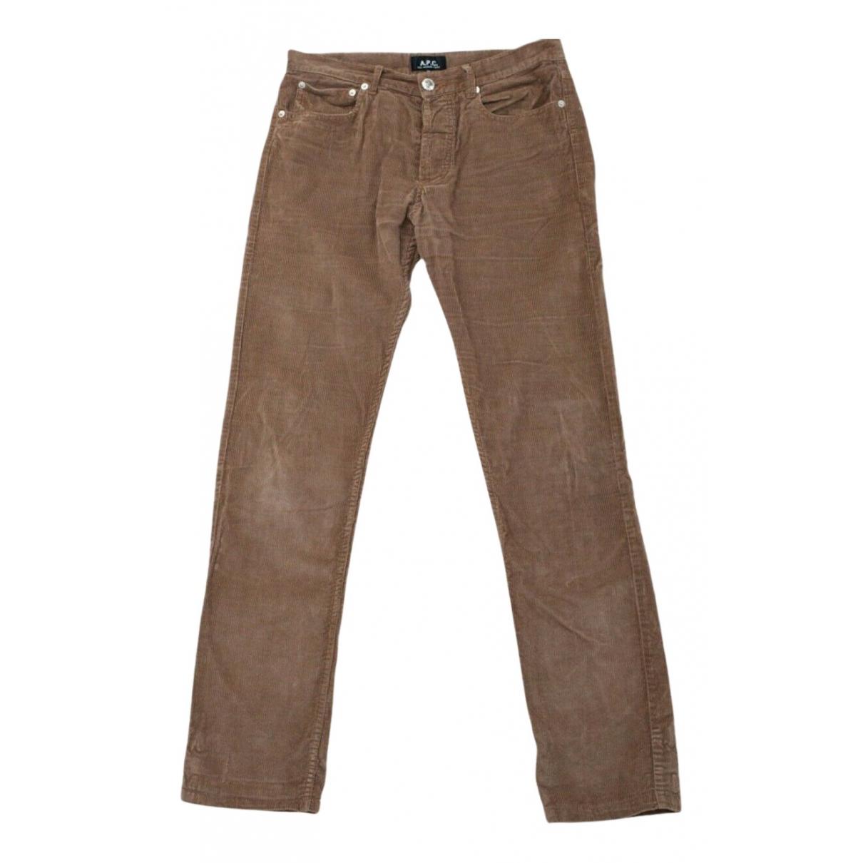 Apc N Camel Velvet Trousers for Men 30 UK - US