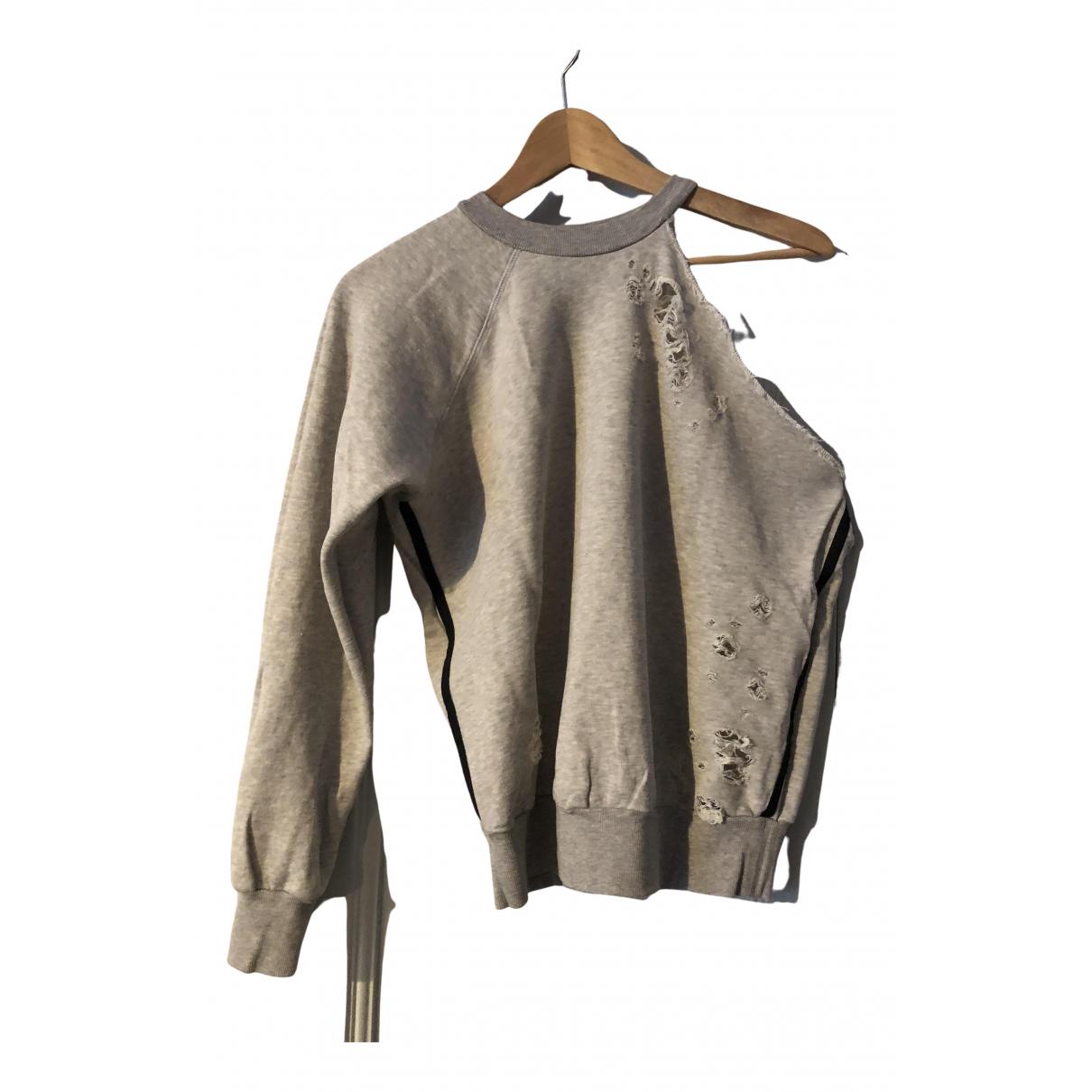 Unravel Project - Pull   pour femme en coton - gris
