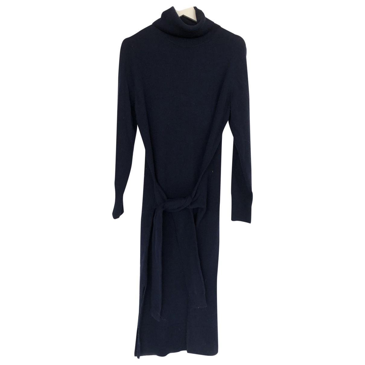 Sandro \N Kleid in  Marine Wolle
