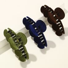 3pcs Solid Hair Claw