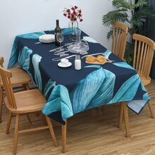 Leaf Print Table Cloth