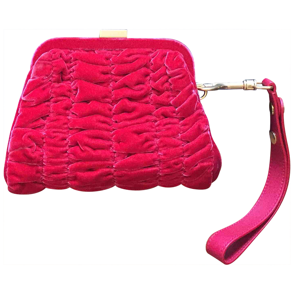 Tom Ford \N Clutch in  Rot Samt