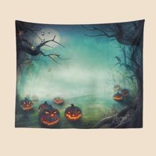 Halloween Pumpkin Print Tapestry