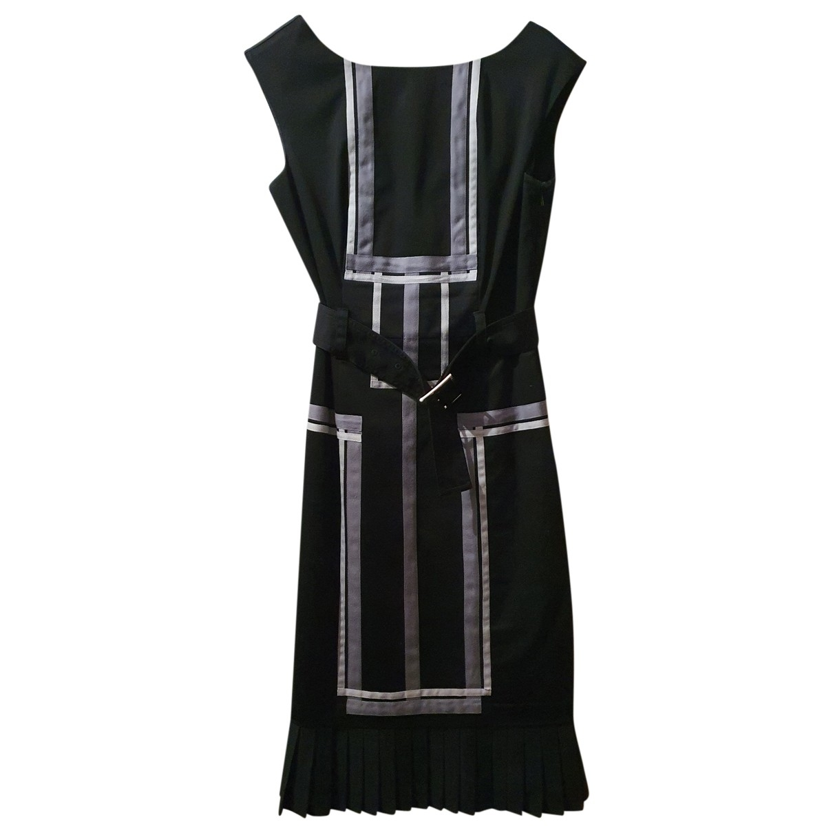 Karen Millen \N Kleid in  Grau Baumwolle