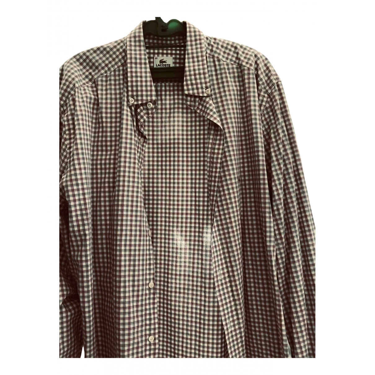 Lacoste N Grey Cotton Shirts for Men XL International