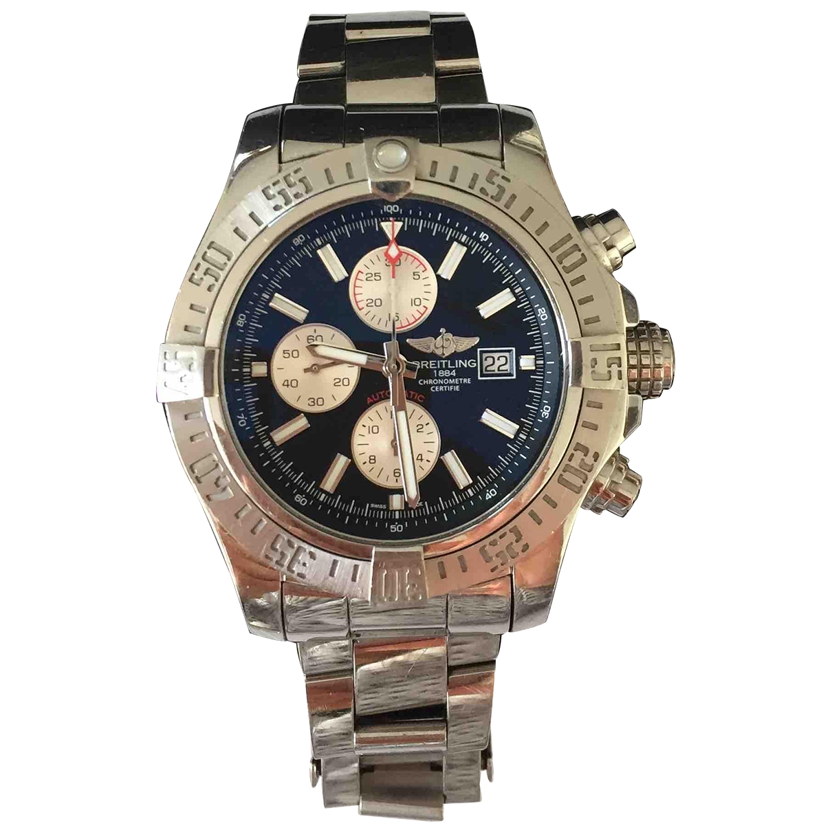 Breitling Avenger Uhr in  Silber Stahl