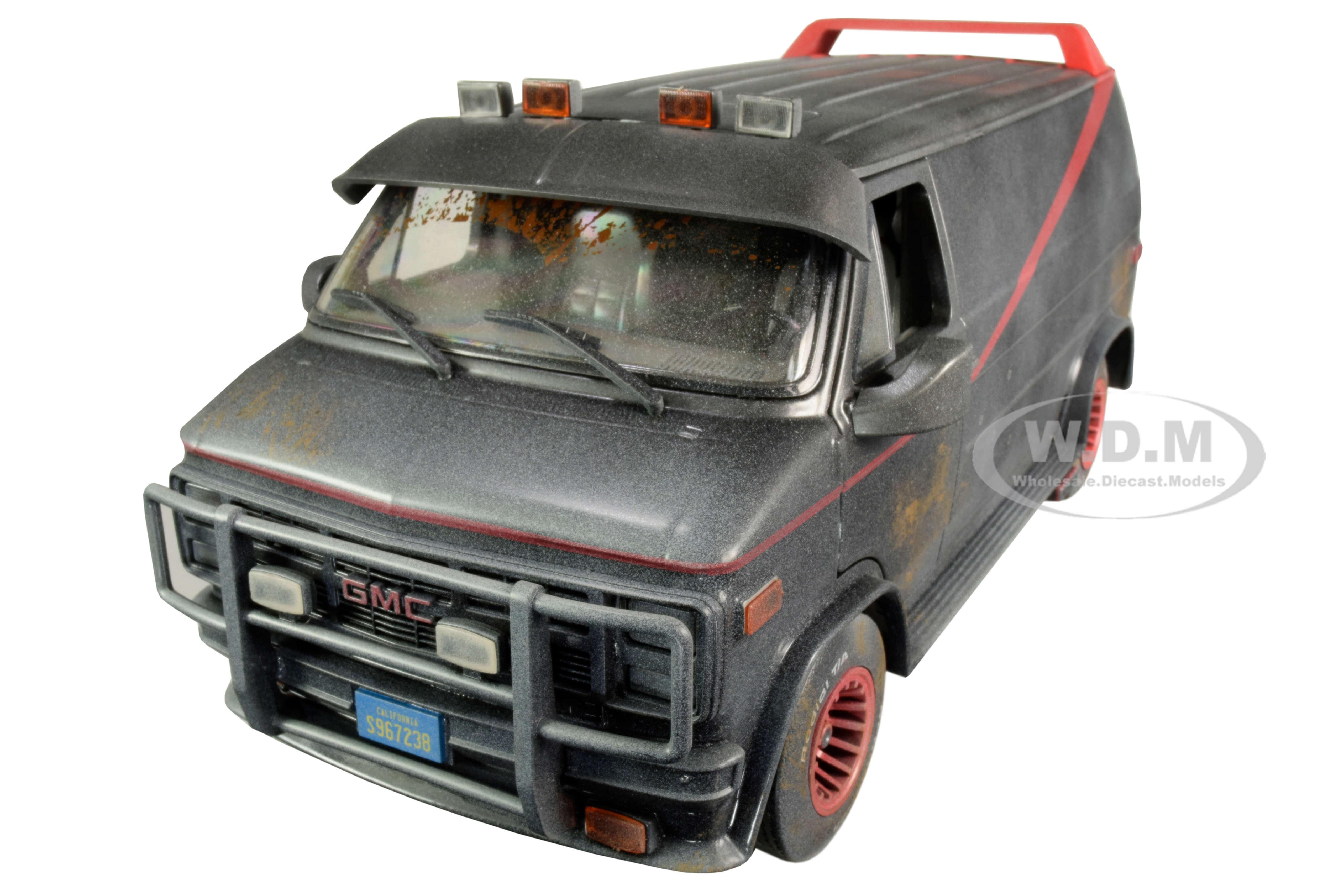1983 GMC Vandura Black Weathered Version with Bullet Holes