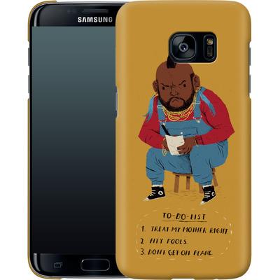 Samsung Galaxy S7 Edge Smartphone Huelle - Mr T To Do List von Louis Ros