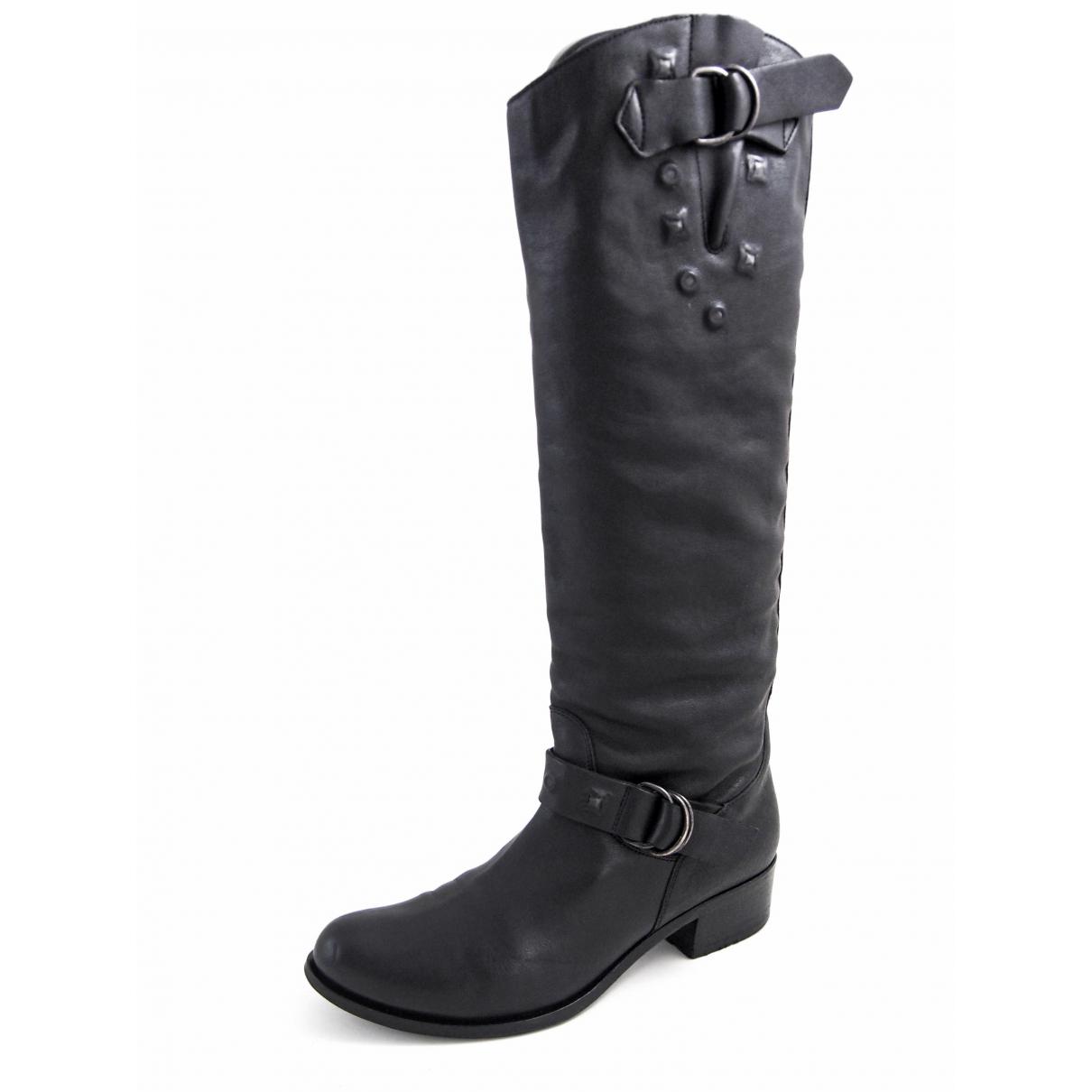 Hugo Boss - Bottes   pour femme en cuir - noir