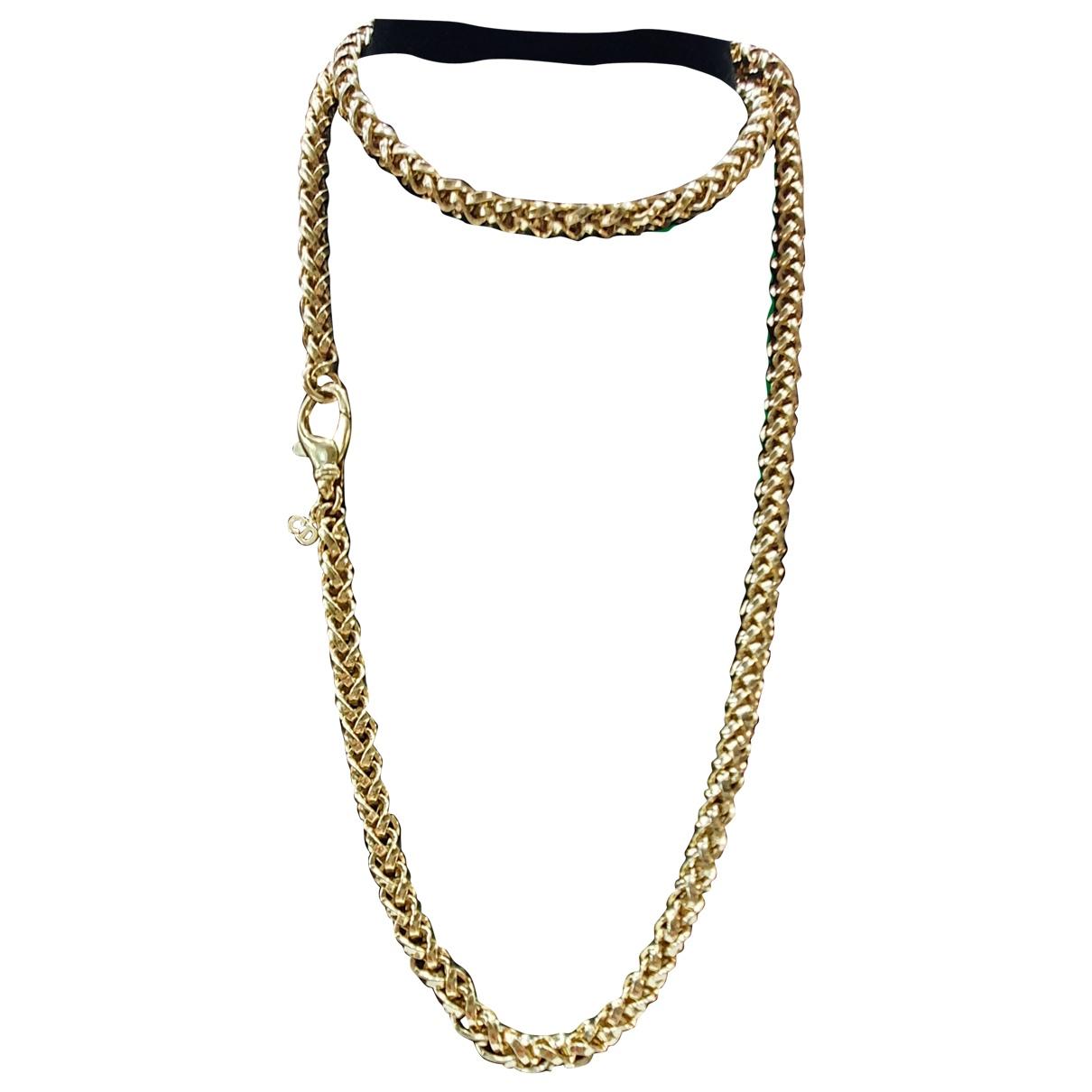 Christian Dior - Sautoir   pour femme en plaque or - dore