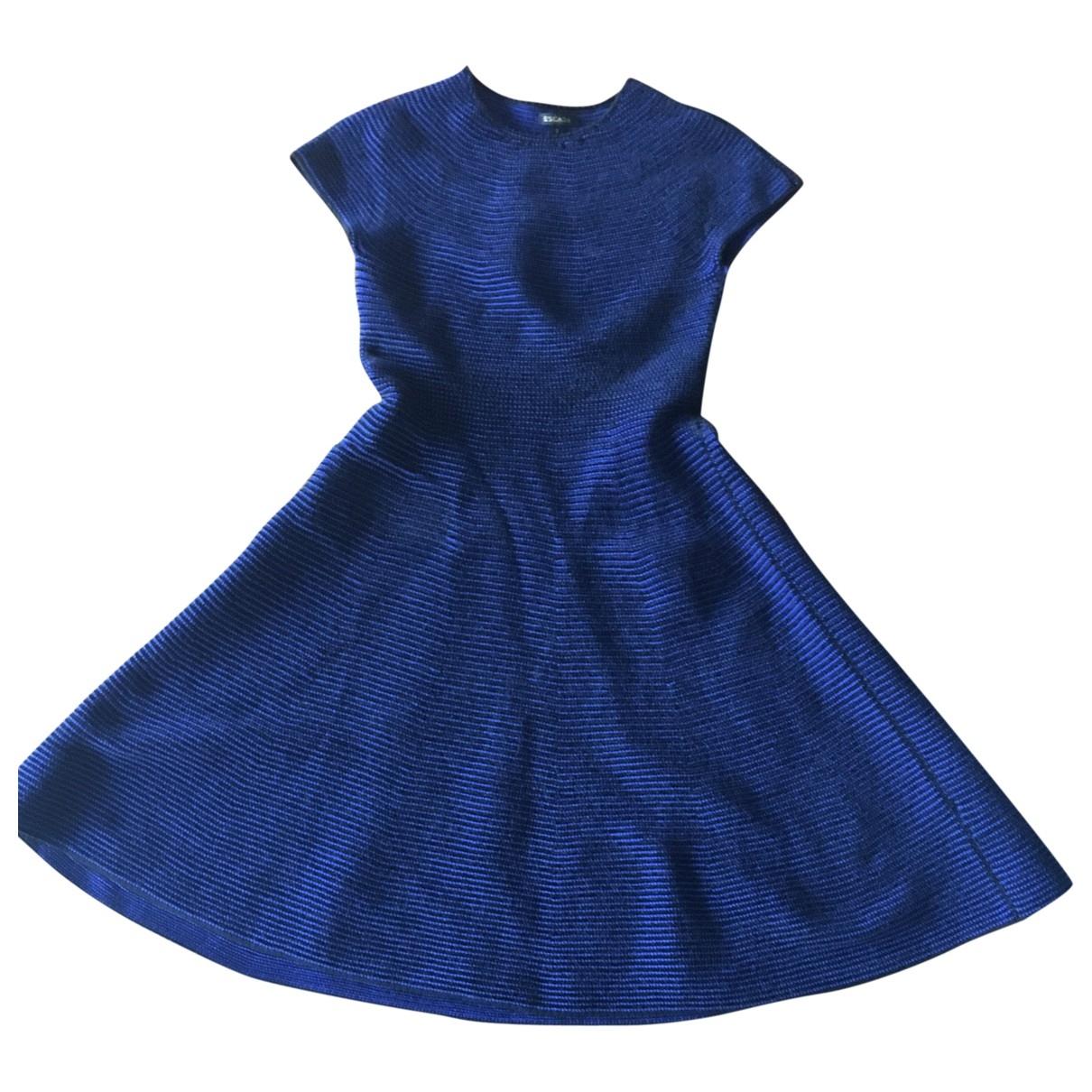 Escada \N Kleid in  Blau Baumwolle