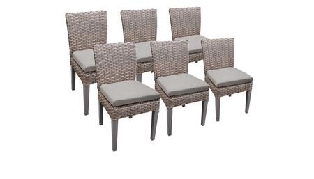Florence Collection FLORENCE-TKC290b-ADC-3x-C-ASH 6 Side Chairs - Grey and Ash