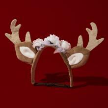 Christmas Deer Design Cat Hair Hoop