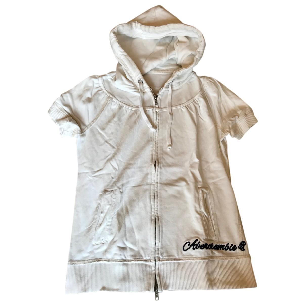 Abercrombie & Fitch - Pull   pour femme en coton - blanc