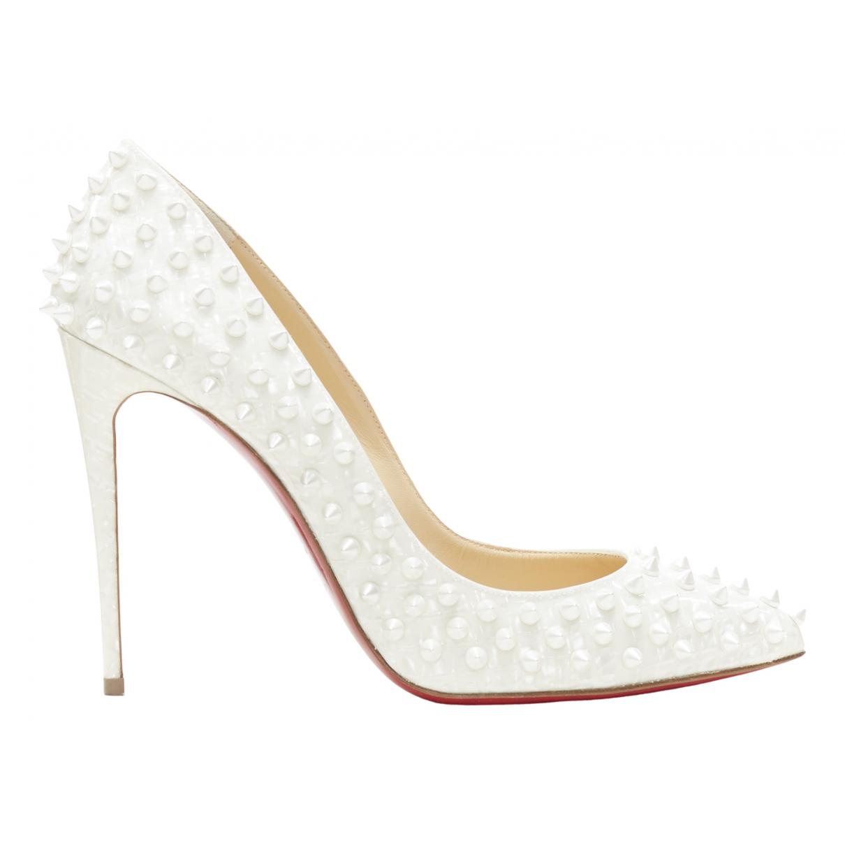 Christian Louboutin \N White Patent leather Heels for Women 39.5 EU