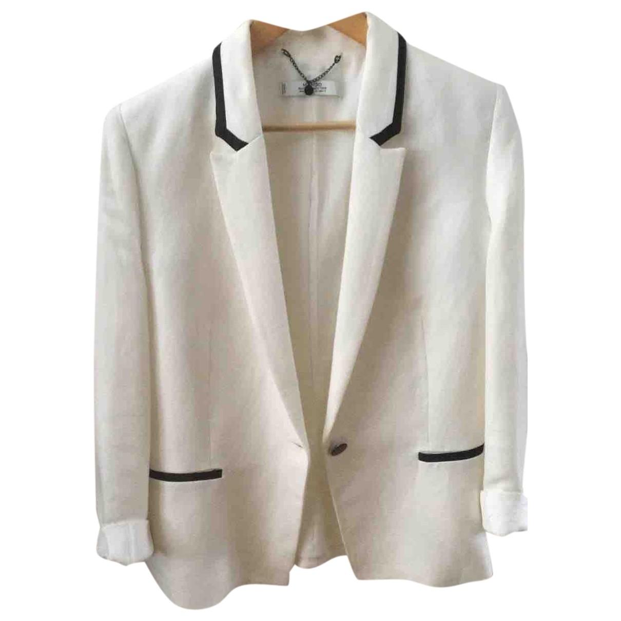 Mango \N White Cotton jacket for Women 10 US