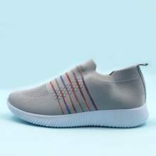 Slip On Sneakers mit Streifen