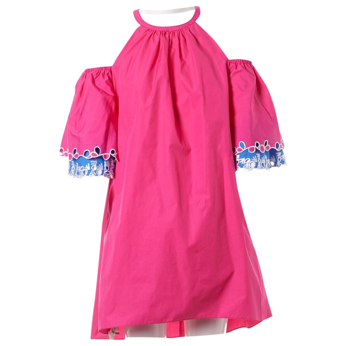 Peter Pilotto \N Kleid in  Rosa Baumwolle