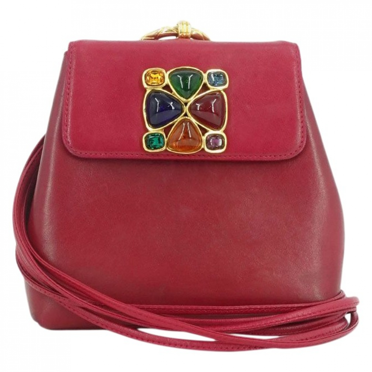 Chanel \N Handtasche in  Rot Leder