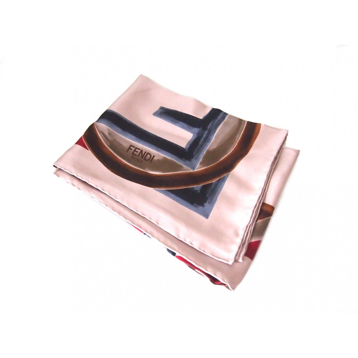 Fendi \N Grey Silk scarf for Women \N