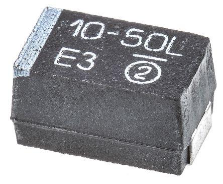 Vishay Tantalum Capacitor 10μF 50V dc MnO2 Solid ±10% Tolerance , TR3 (5)