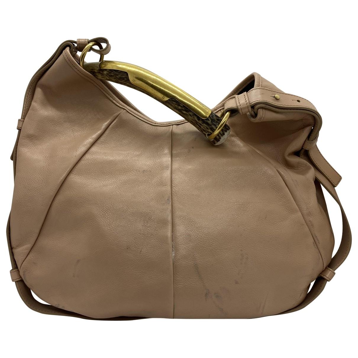 Yves Saint Laurent \N Handtasche in  Beige Leder