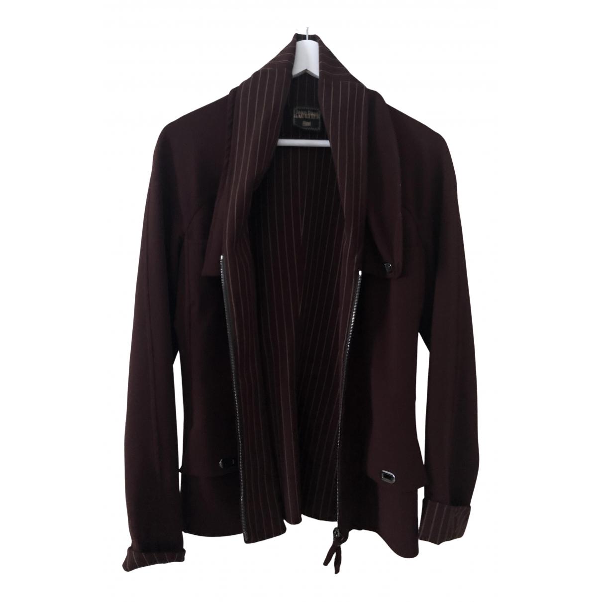 Jean Paul Gaultier - Veste   pour femme en laine - marron