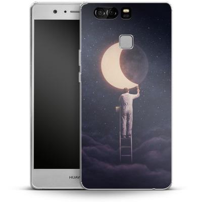 Huawei P9 Silikon Handyhuelle - Carpe Noctem Wide von Enkel Dika
