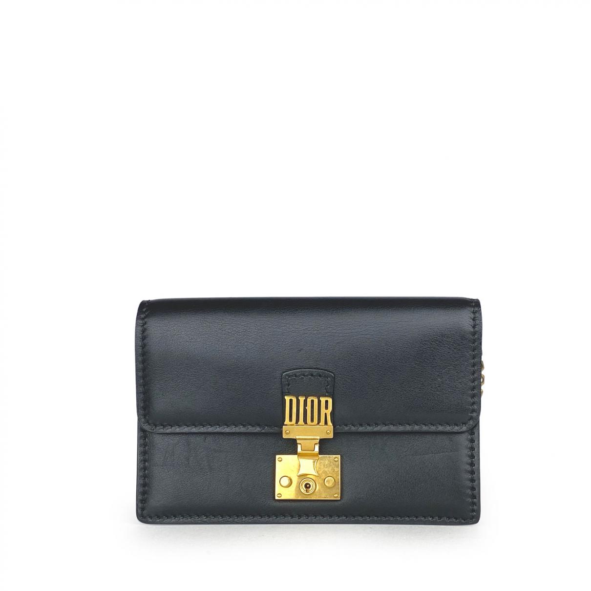 Dior DiorAddict Handtasche in  Schwarz Leder