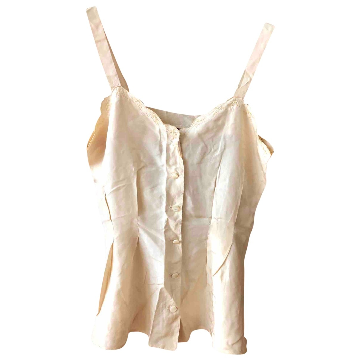 Non Signé / Unsigned \N Yellow Silk  top for Women 38 FR