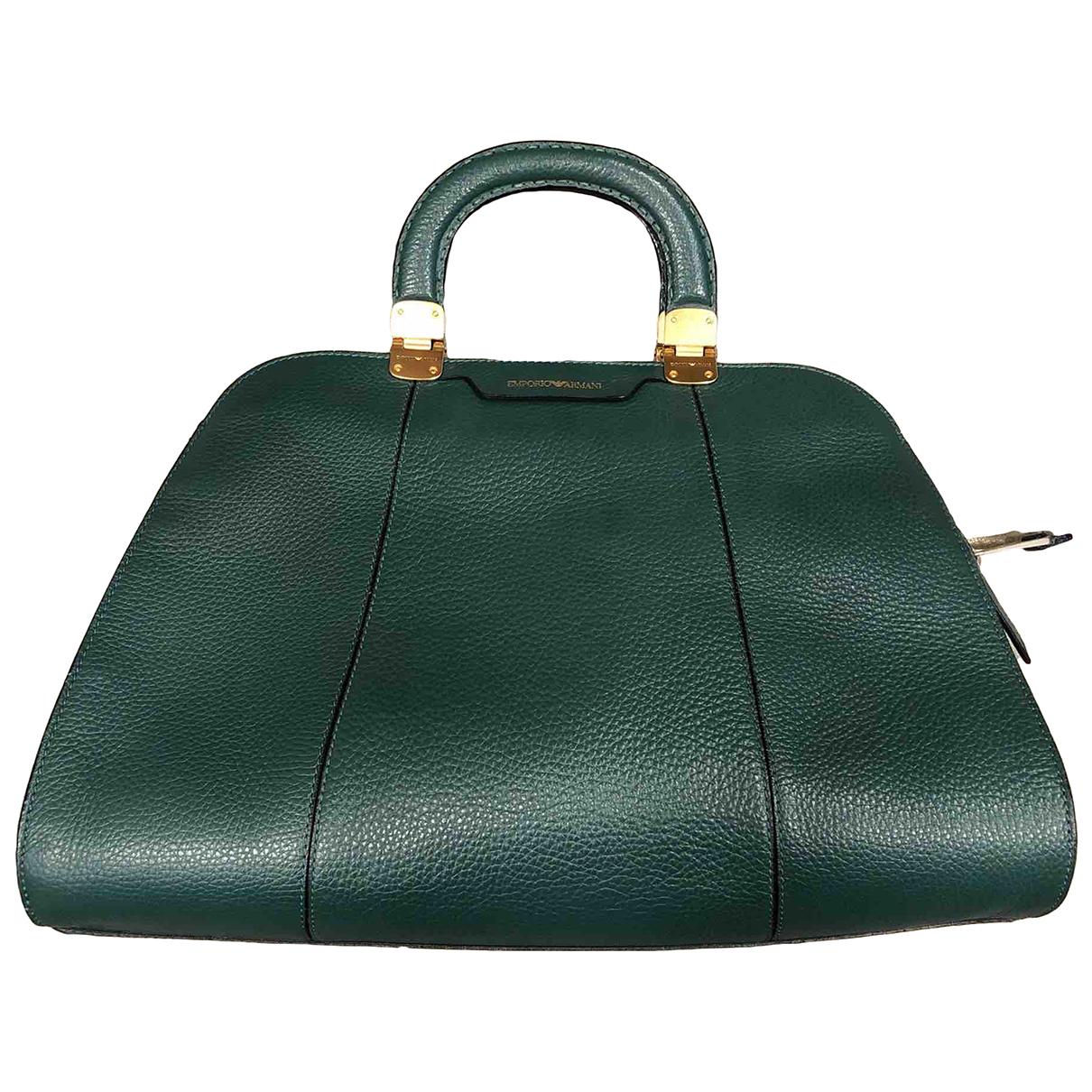 Emporio Armani N Green Leather handbag for Women N