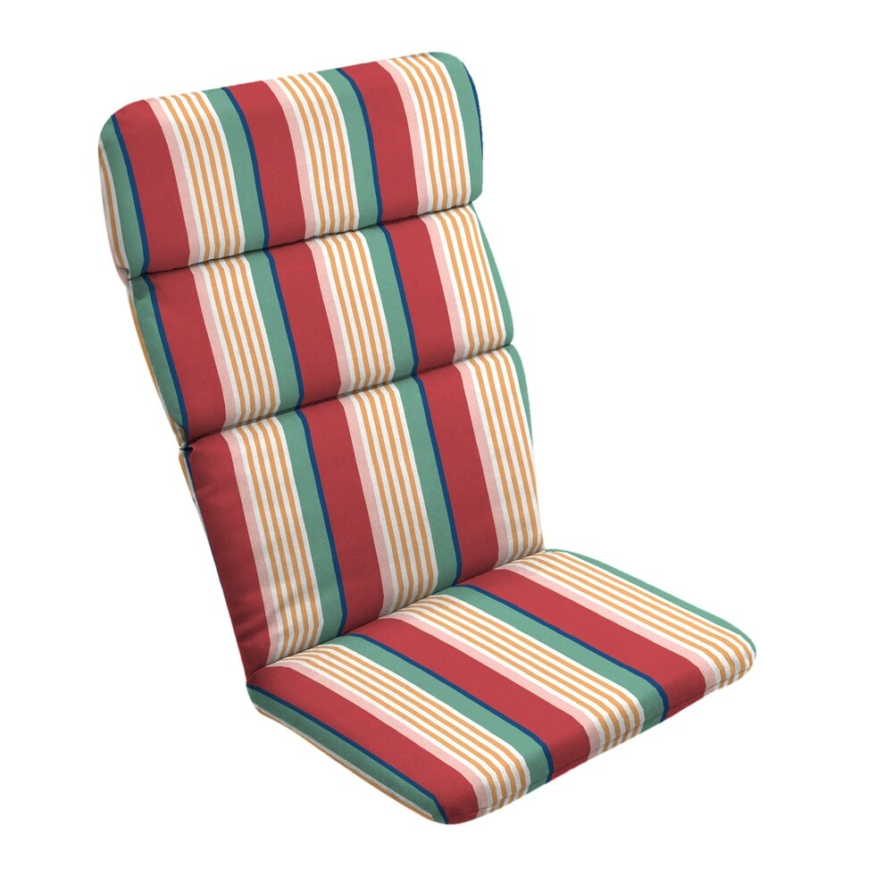 Arden Selections Keeley Stripe Outdoor Adirondack Chair Cushion - 45.5 in L x 20 in W x 2.25 in H (Red - 45.5 in L x 20 in W x 2.25 in H)