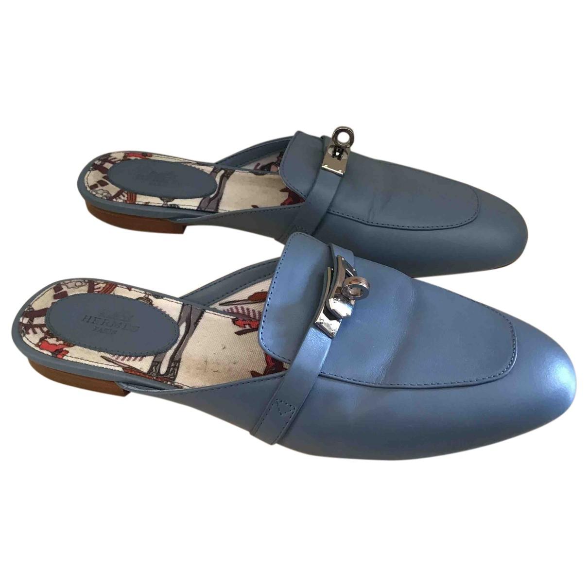 Hermes - Mocassins   pour femme en cuir - bleu