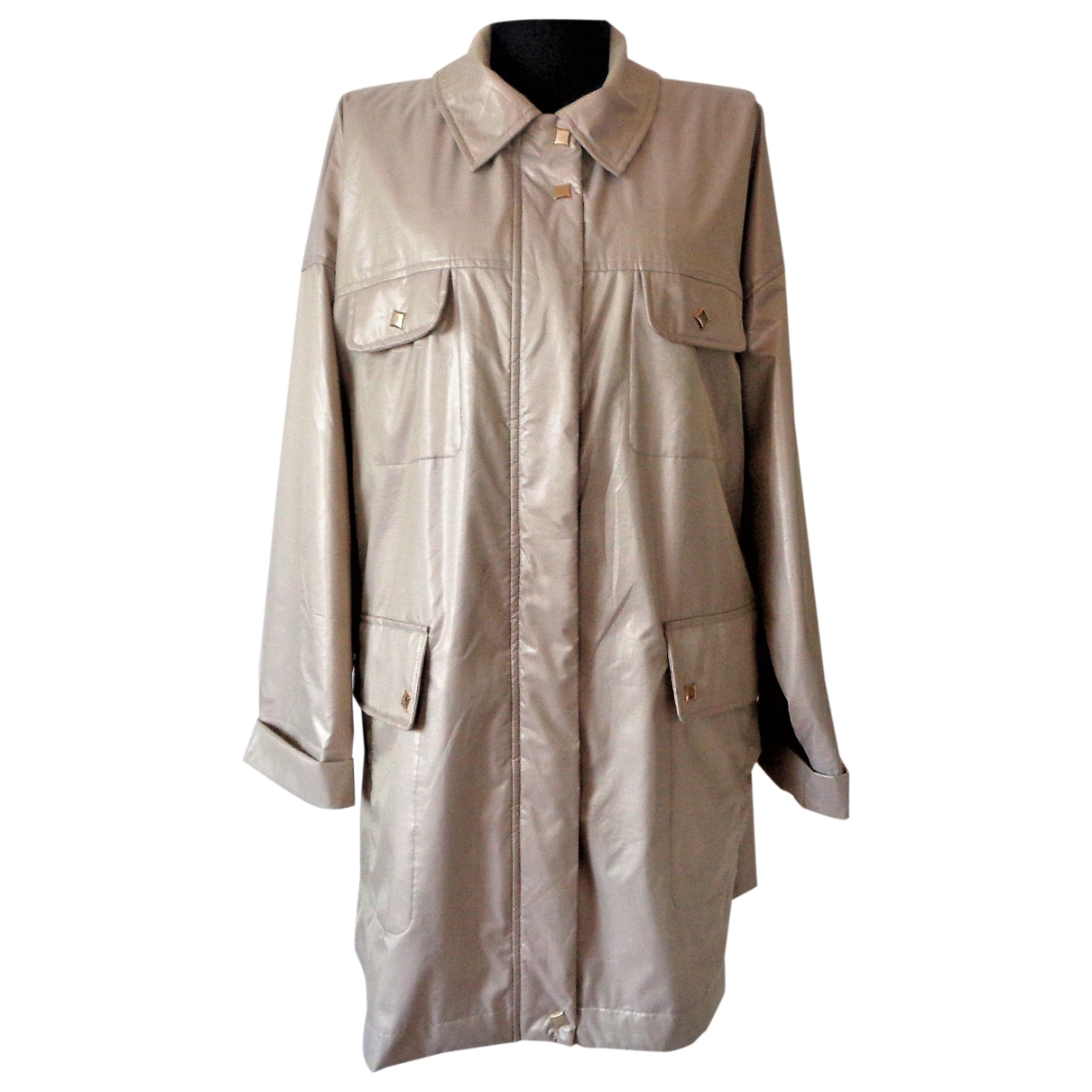 Mcm \N Beige Trench coat for Women 44 IT