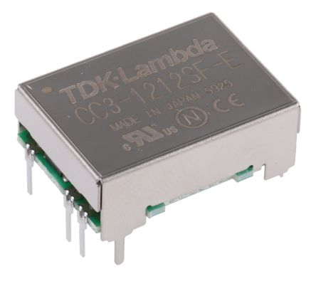 TDK-Lambda 3W Isolated DC-DC Converter Through Hole, Voltage in 9 → 18 V dc, Voltage out 12V dc
