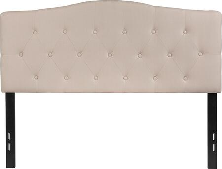 HG-HB1708-F-B-GG Cambridge Tufted Upholstered Full Size Headboard in Beige