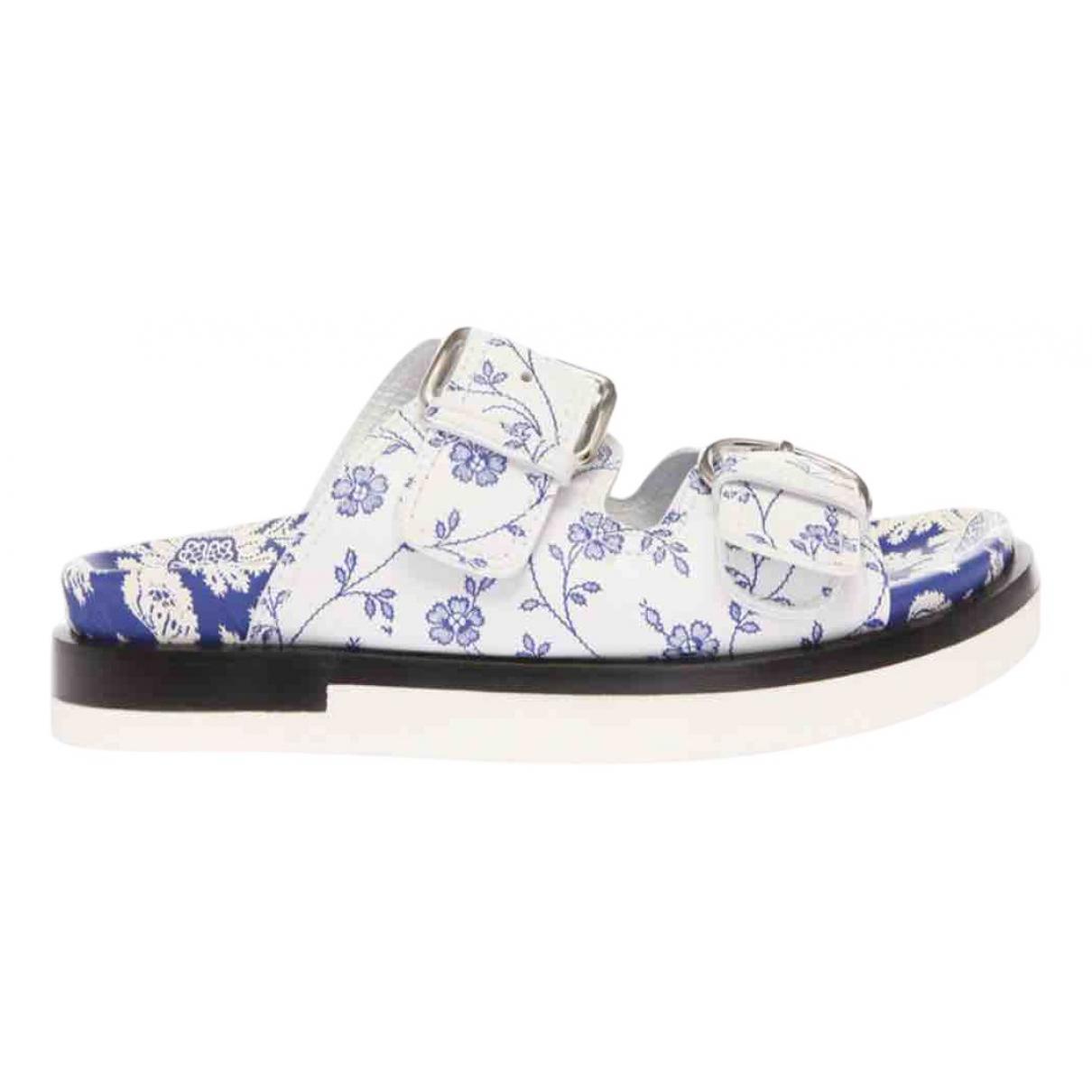 Alexander Mcqueen \N White Leather Sandals for Women 38 EU