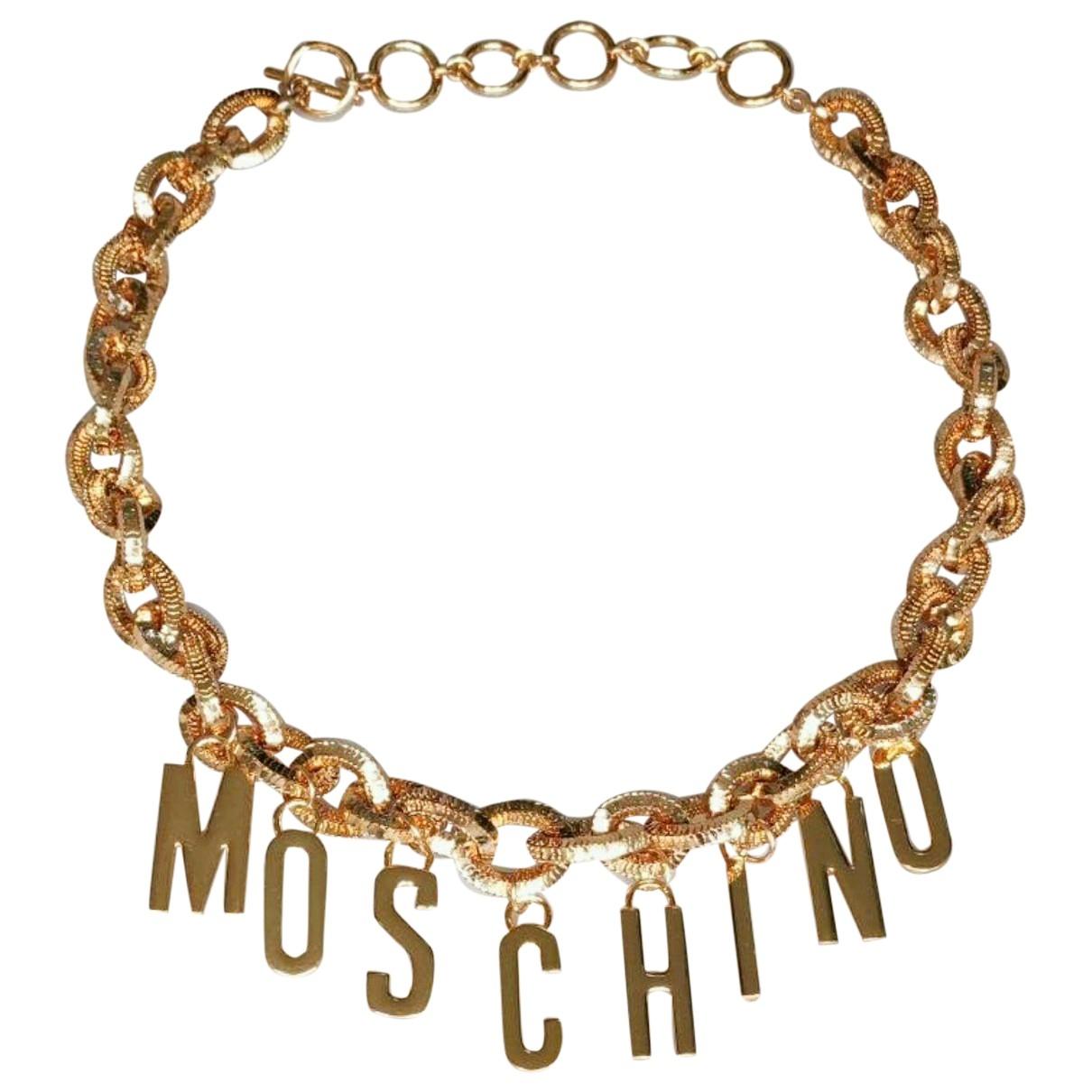 Moschino - Ceinture   pour femme en chaine - dore