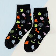 Ghost Pattern Socks