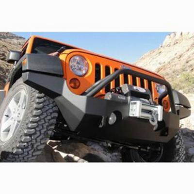 Mountain Off Road Enterprises RockProof Full-Width, High-Clearance Front Bumper with Grille Guard, (Black) - JFB505P