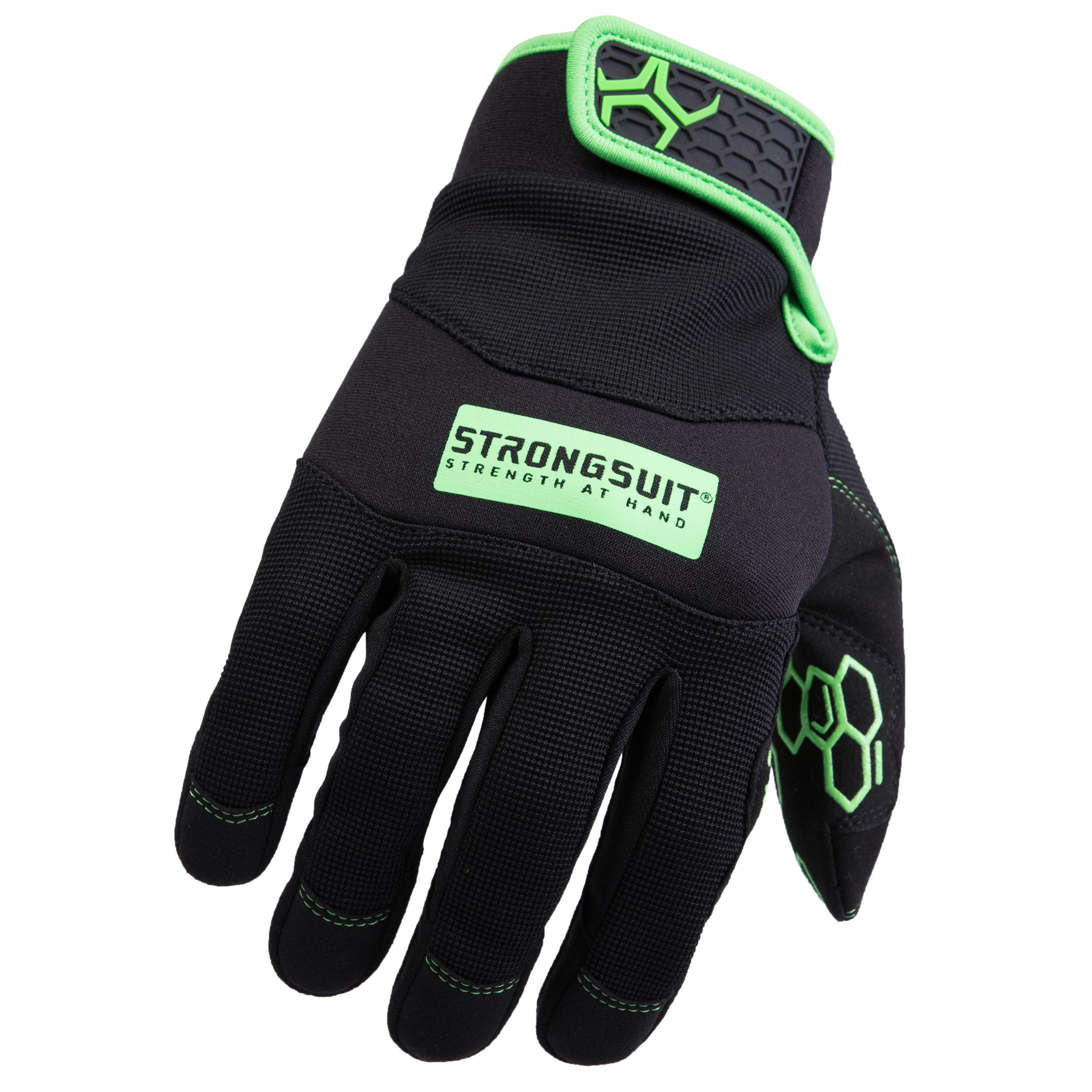 Grasper Gloves, Black/Green, XXL