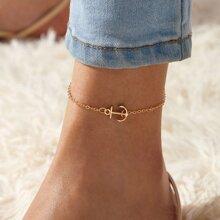 1pc Anchor Decor Chain Anklet