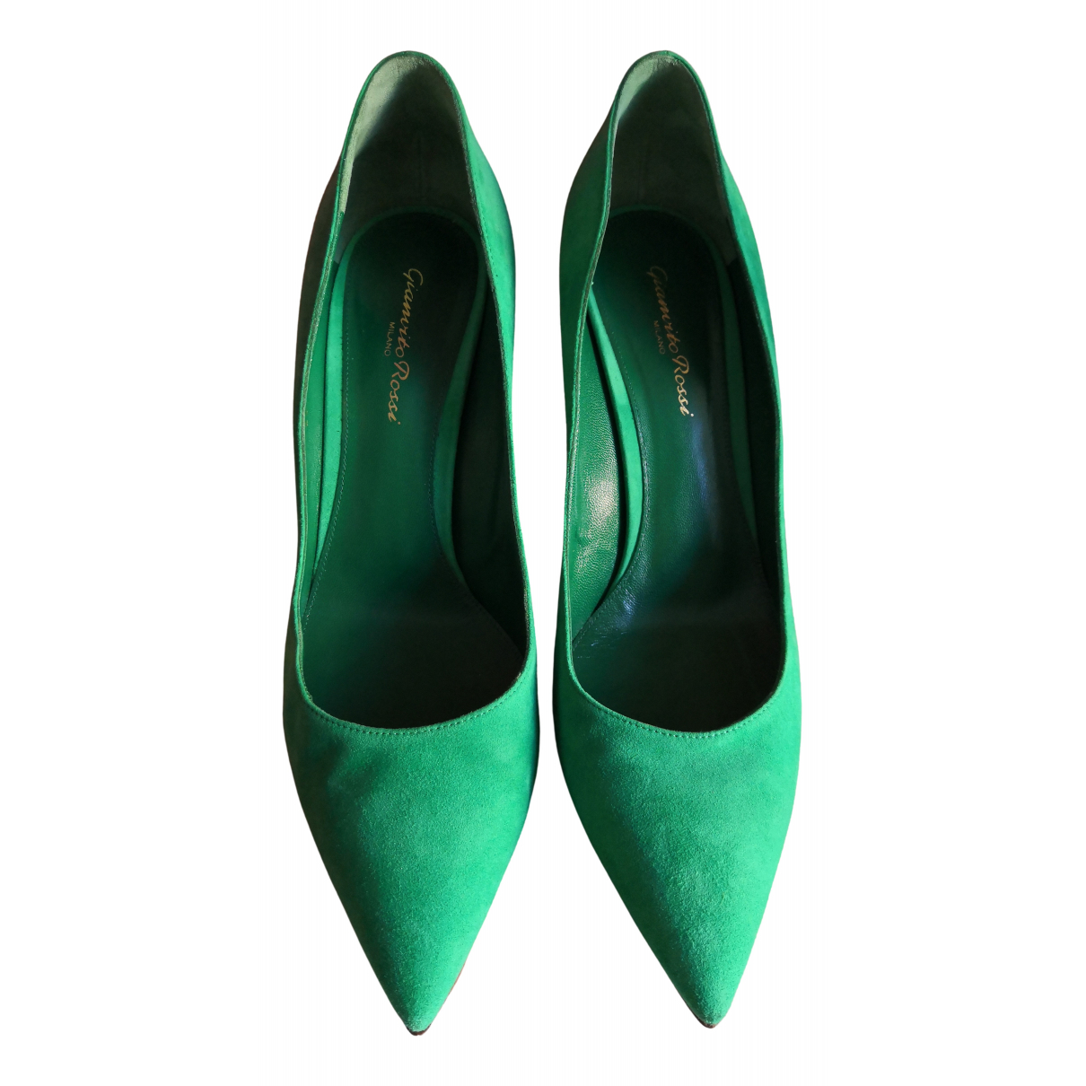 Gianvito Rossi Gianvito Green Leather Heels for Women 40 EU