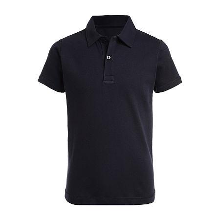 IZOD Adaptive Little & Big Boys Short Sleeve Polo Shirt, Medium (10-12) , Blue