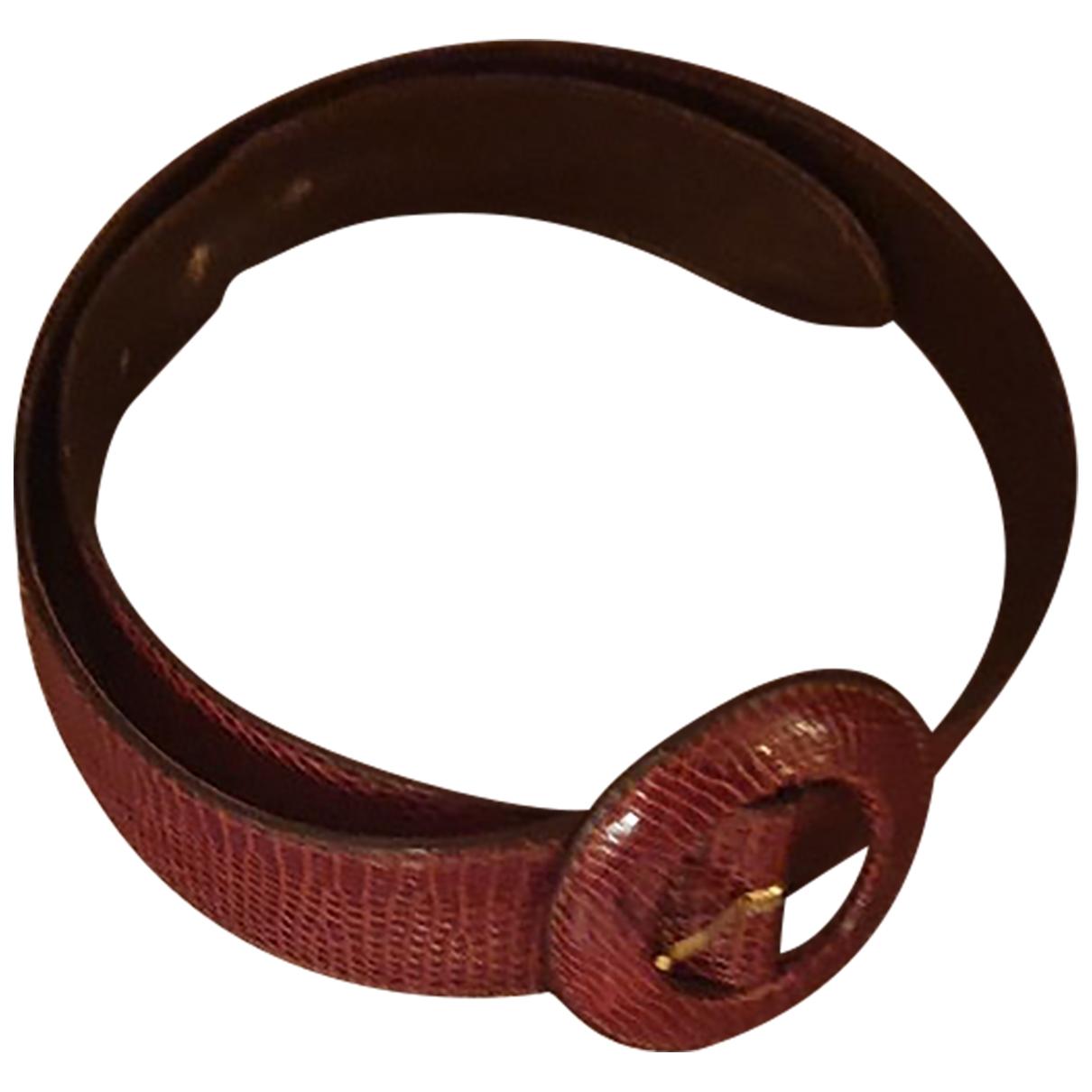 Cinturon de Lagartija Giorgio Armani