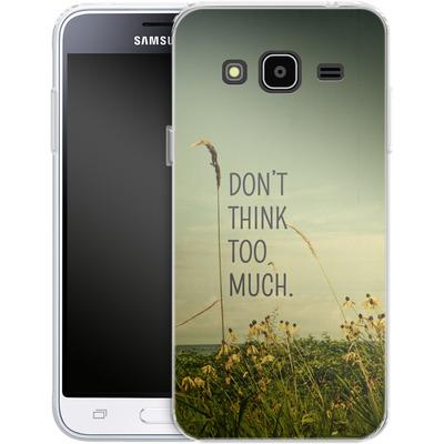 Samsung Galaxy J3 (2016) Silikon Handyhuelle - Travel Like A Bird Without Care von Joy StClaire