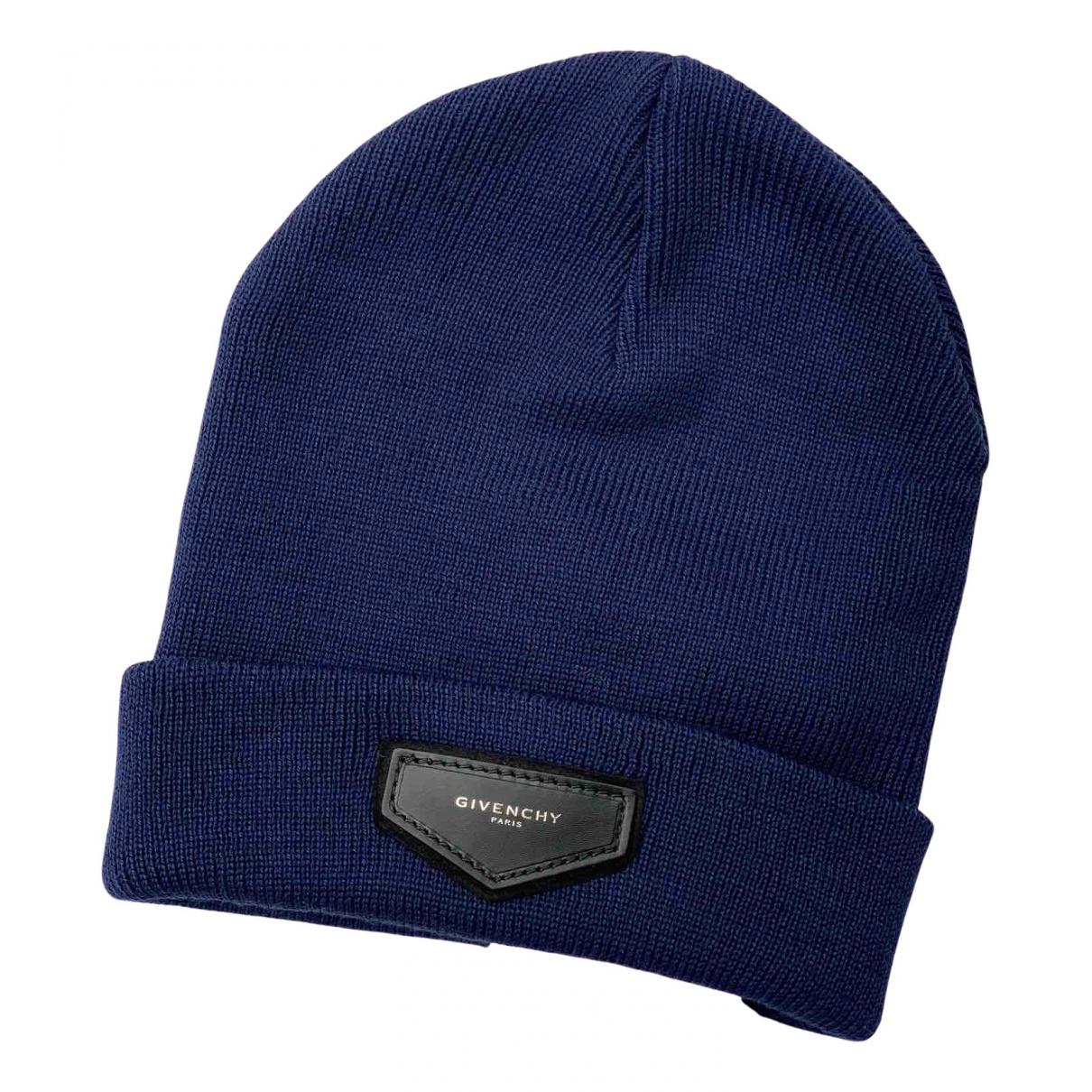Givenchy - Chapeau   pour femme en laine - bleu