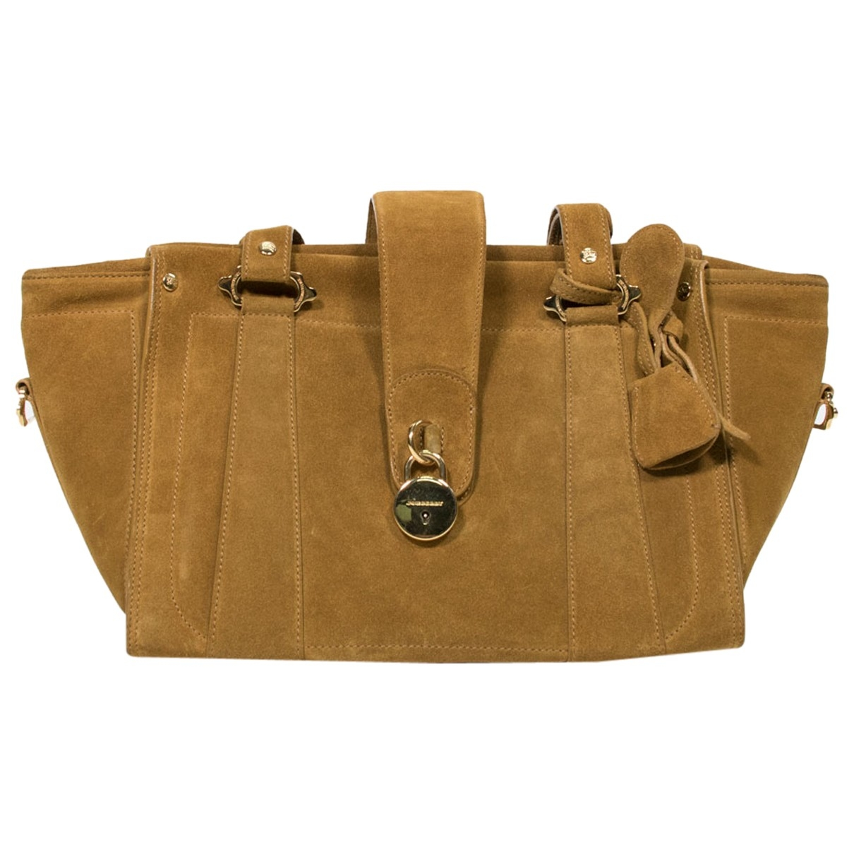 Burberry \N Camel Suede handbag for Women \N