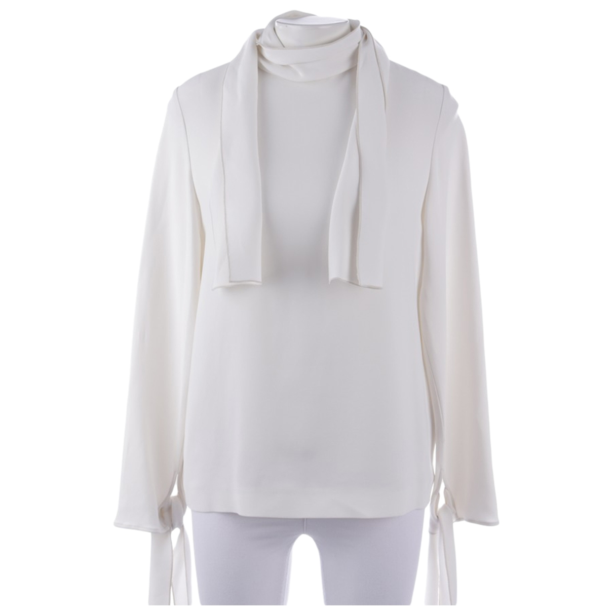 Joseph \N White Leather  top for Women 36 FR